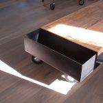 Mesa centro de hierro natural y madera. Gallen