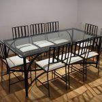 Conjunto de mesa y sillas de hierro comedor Jorge