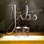 Rotulo jibs inoxidable-vidrio negro